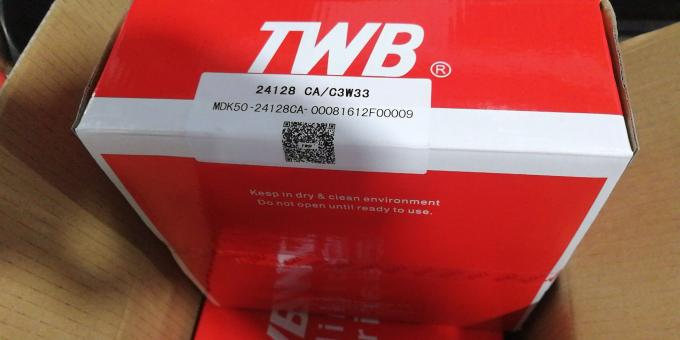 24128 CAW33 C3 TWB Spherical Roller Bearing Brass Cage Ball Mill Application
