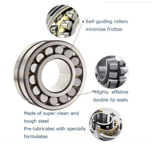 SKF Double Row Spherical Roller Bearing 23036MBK/C3W33 180x280x74mm for Gearbox, Mill Machine, Mining, Paper machine