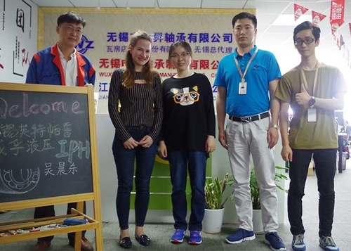 On may 10th, Miss Mana represent Weifu company visit our company