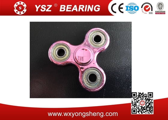 Rose / Silver / Blue Amuminum Finger Fidget Spinner Low Vibration