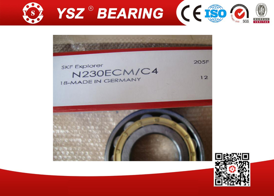 C4  Cylindrical Roller Bearings N230ECM High Precision Low Noise
