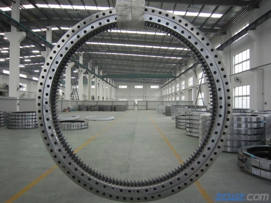 Four Point Single Row Slewing Ring Bearings Contact Ball Slewing Bearing External Gear