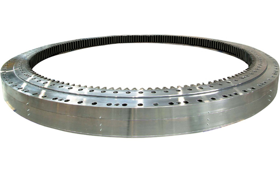 Single Row Four Point Contact Ball Slewing Ring Bearings Without Gear For Lifting Machine