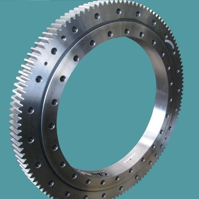 Single Row Slewing Ring Bearings Four Point Contact Ball For Excavating Machinery