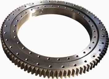 Single Row Slewing Ring Bearings Four Point Contact Ball For Engineering Crane
