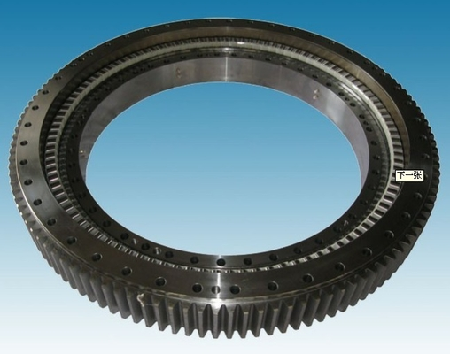 Single Row Four Point Slewing Ring Bearings With External Gear For Construction Machinery